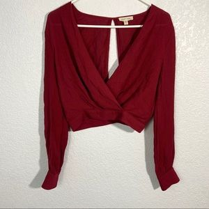 Silence + Noise Red Blouse Top Small